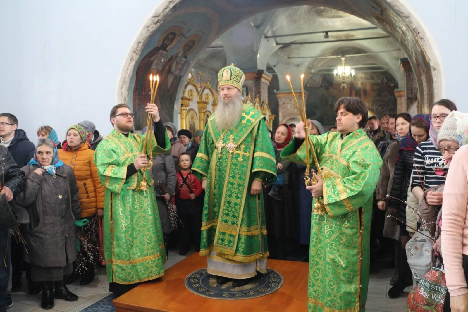 День празднования Входа Господня в Иерусалим.