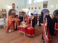 Панихида в Свято-Троицком Каменно Бродском мужском монастыре.