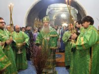 Праздничное Всенощное бдение в кафедральном соборе Покрова Пресвятой Богородицы г.Урюпинска.