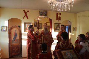 Всенощное бдение в молитвенном доме в честь Апостола Андрея Первозванного в р.п. Линево