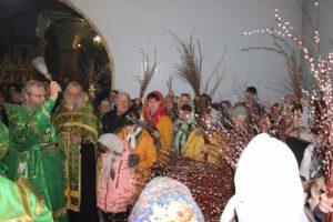 В канун праздника Входа Господня в Иерусалим,