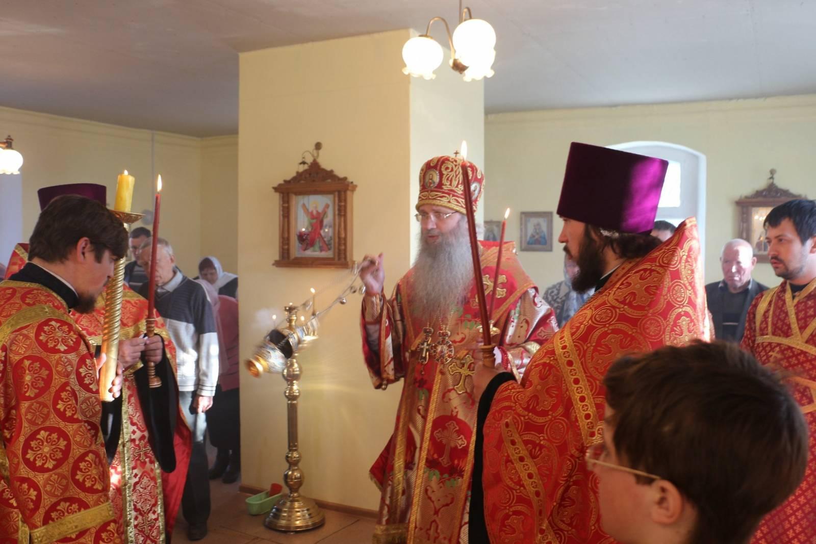 Всенощное бдение в молитвенном доме в честь Апостола Андрея Первозванного в р.п. Линево.
