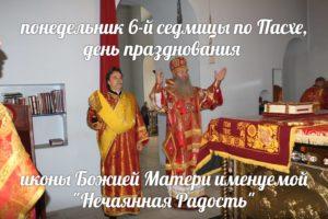 """В День иконы Божией Матери именуемой """"Нечаянная Радость"""""""