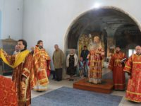 Служение епископа Елисея в понедельник 6-й седмицы по Пасхе.