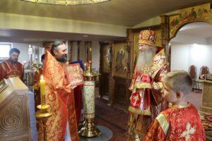 Служение епископа Елисея во вторник 6-й седмицы по Пасхе