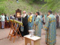 Молебное пение с чтением акафиста Урюпинской иконы Божией Матери и малое освящение воды на Святом источнике.