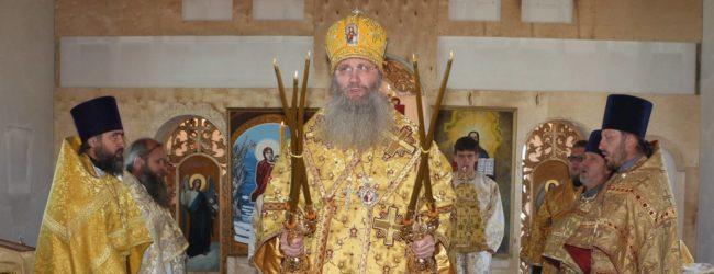 Служение епископа Елисея в день памяти Прп. Исаакия исп., игумена обители Далматской.
