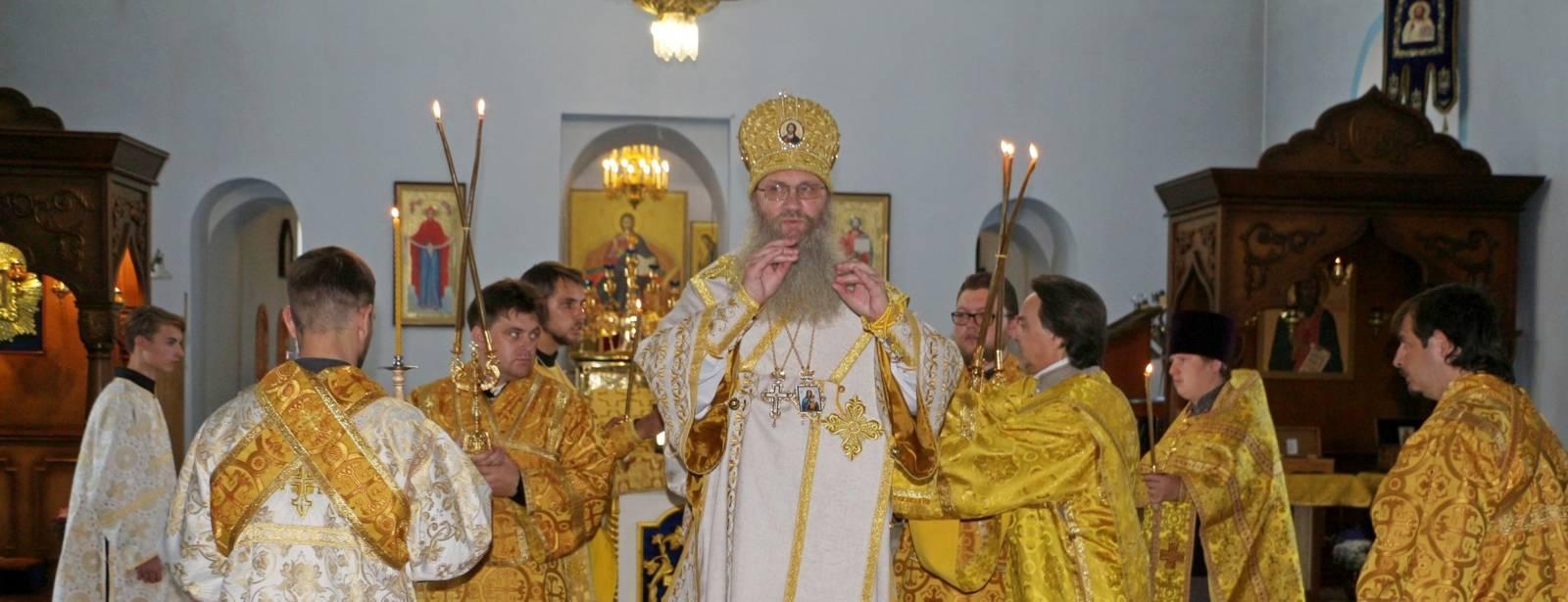 Служение епископа Елисея в канун дня памяти прор. Елисея.