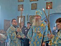 Служение епископа Елисея в 4-ю неделю по Пятидесятнице.