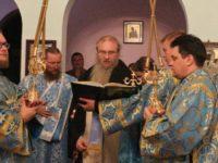 В канун Дня празднования Коневской иконы Божией Матери.