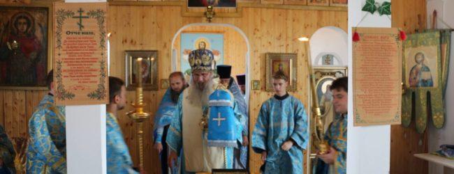 Служение епископа Елисея в день празднования Владимирской иконы Божией Матери.
