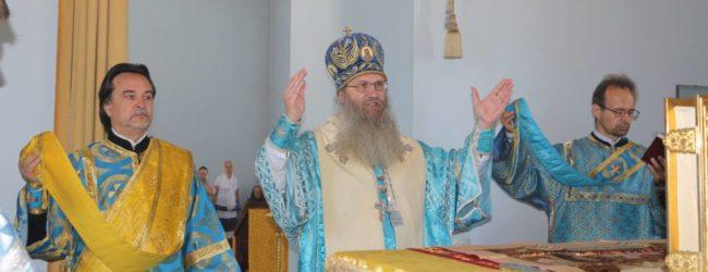 Служение епископа Елисея в день празднования Тихвинской иконы Божией Матери.