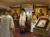 Служение епископа Елисея в канун дня памяти святых апостолов Петра и Павла.
