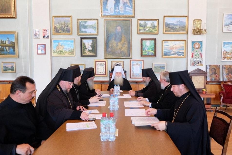 Очередное заседание архиерейского совета Волгоградской митрополии.