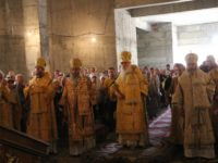Божественная литургия в День памяти святого благоверного князя Александра Невского.