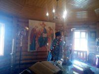Престольный праздник в храме Покрова Пресвятой Богородице в хуторе Зимняцком.