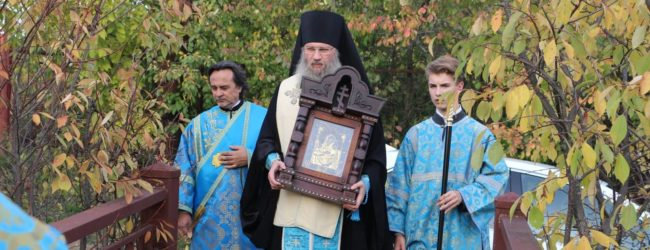 Совершен молебен на святом источнике с чтением акафиста Урюпинской иконы Божией Матери.