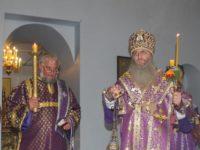 В канун празднования Воздви́жение Честно́го и Животворящего Креста Господня.