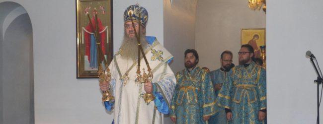 В канун празднования Покрова Пресвятой Владычицы нашей Богородицы и Приснодевы Марии.