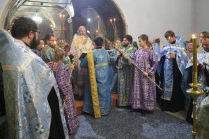 В канун 20-й недели по пятидесятнице, Покров Божией Матери