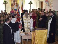 Молебен в Урюпинской кадетской школе