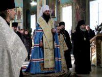 Благодарственный молебен о прибытии митрополита Феодора