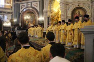 Епископ Елисей принял участие в Патриаршем богослужении в день открытия XXVII Международных Рождественских чтений