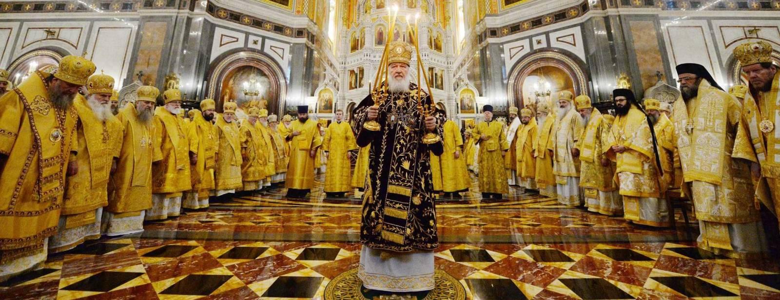 Праздничное богослужение в 10-ю годовщину интронизации Святейшего Патриарха Кирилла.