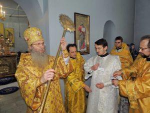 Служение епископа Елисея в 36-ю неделю по пятидесятнице.