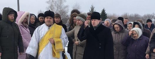Отпевание и погребение певчего Покровского собора, Максина Михаила Михайловича.