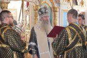 Вечерня в соединении с Литургией Преждеосвященных Даров, в храме Архангела Михаила.