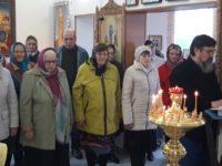 В предпраздноство Благовещения Пресвятой Богородицы в Троицкой церкви х. Первомайский.