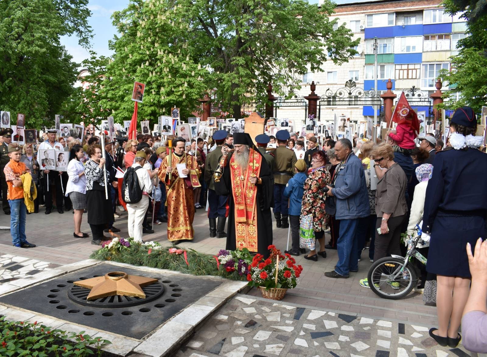 Епископ Елисей принял участие в торжествах, посвящённых Дню Победы.