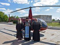 Воздушный крестный ход вокруг г. Урюпинска с Урюпинской иконой Божией Матери