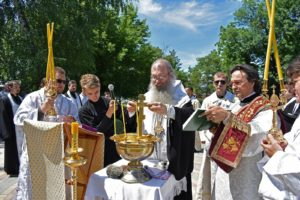 Вознесение Господне, водосвятный молебен Урюпинск