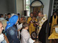 Епископ Елисей совершил молебен «О путешествующих» для учащихся воскресной школы.