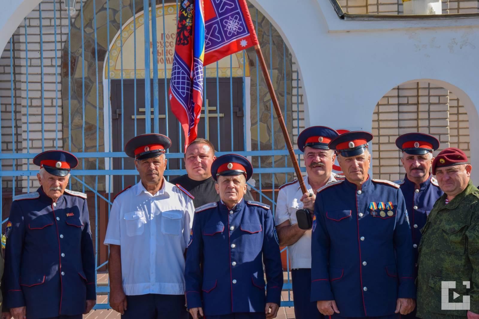 Освящение знамени «Братства Архангела Михаила»