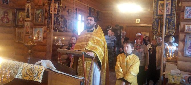 Молебен о полицейских в Зимняцком