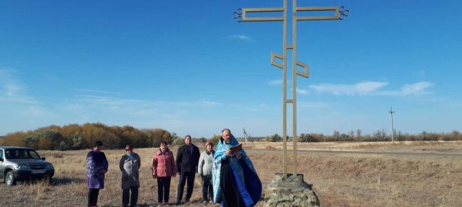 Освящение поклонных крестов в с. Ягодном