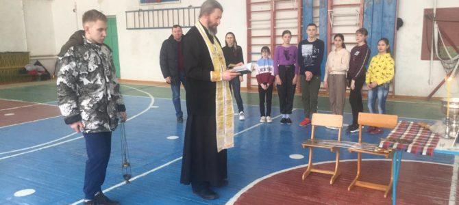 Освящение спортзала в Арчединской